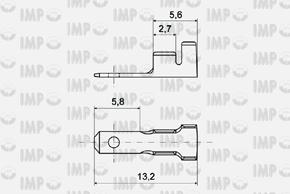 Konektor kolík 2,8mm - rozměry
