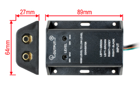 2-kanálový adaptér úrovně - rozměry