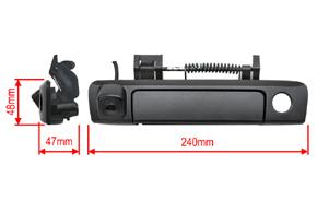 CMOS parkovací kamera Ford Ranger (2011->) - rozměry