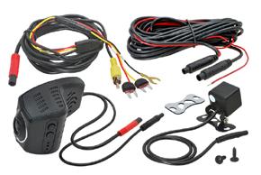 DVR kamera univerzální přední + zadní - obsah balení