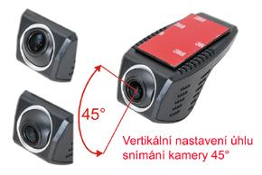 DVR kamera univerzální - vertikální nastavení úhlu