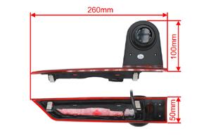 CCD parkovací kamera Ford Transit Custom (12-16) - rozměry