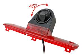 CCD parkovací kamera Fiat Ducato - náklon kamery