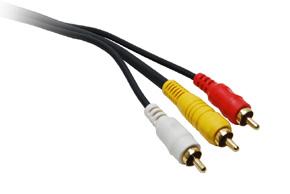 CAV 100 AV signálový kabel - detail konektorů