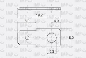 Nýtovací konektor 6,3mm - rovný - rozměry