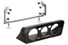 Adaptér 2DIN autorádia Škoda / VW / Seat - kaslík pro umístění ovladačů topení