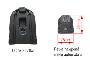 AK3-043LA monitor v zrcátku Ford, Toyota, Mitsubishi - detail upevnění na sklo