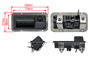 CCD parkovací kamera Audi / Škoda / VW - rozměry
