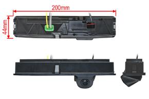CCD parkovací kamera Ford Focus Sedan (2016->) - rozměry