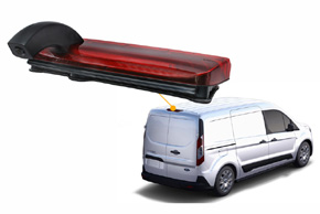 CCD parkovací kamera Ford Transit Connect (13->) - umístění kamery v automobilu