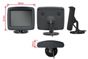 3,5 univerzální monitor 4:3 - rozměry