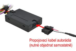 Adaptér pro ovládání na volantu Mercedes Actros / Atego - propojovací kabel autorádia