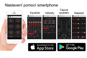 MACROM M-DSPA500 - nastavení pomocí aplikace v mobilním telefonu