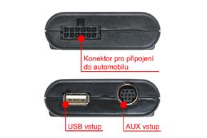 GATEWAY Lite iPOD/USB/AUX vstup Honda - zapojení konektorů