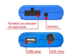 GATEWAY Lite BT HF sada + iPhone / iPod / USB vstup BMW - zapojení vstupů