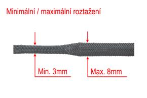 Ochranný oplet 4mm - rozměry