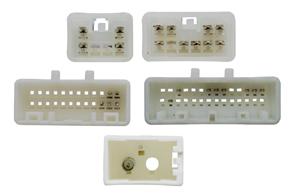 Adaptér pro ovládání na volantu Toyota - detail konektorů