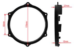 Adaptér repro 165mm Seat Ibiza (08->) - rozměry