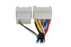 Adaptér pro ovládání na volantu Mitsubishi s akt.systémem - detail zapojení vodičů