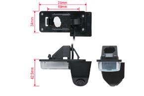 CCD parkovací kamera Toyota Land Cruiser 150 - rozměry