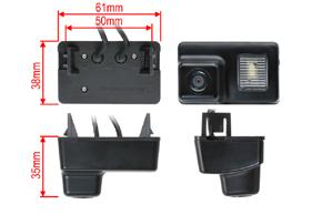 CCD parkovací kamera Citroen / Peugeot - rozměry