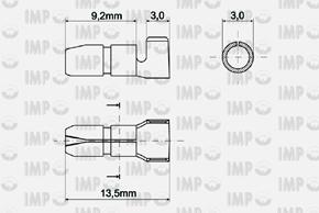 Konektor kruhový kolík Ø 4mm - rozměry