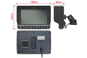 TMQ-7002 univerzální monitor 7 / 16:9 - rozměry