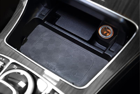 Inbay® Qi nabíječka Mercedes C - umístění v automobilu