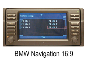 BMW navigace 16:9 s barevným displejem