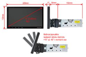 MACROM M-AN900 - rozměry a nastavení sklonu monitoru