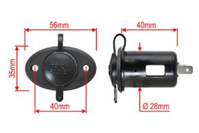 CL zásuvka přístrojová - rozměry