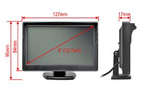 5 TFT univerzální monitor - rozměry