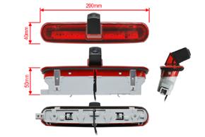 CCD parkovací kamera Fiat Doblo / Opel Combo - rozměry