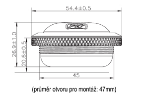 Phoenix Gold Ti3CS1TX - rozměry