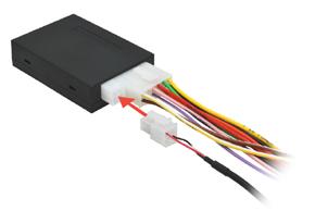 Místo pro připojení propojovacího kabelu k instalované jednotce