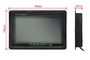 7 univerzální monitor 16:9 - rozměry v rámečku