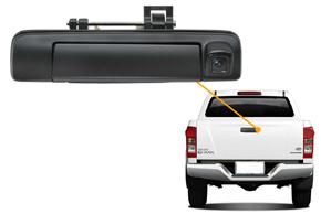 CCD parkovací kamera Isuzu D-Max (12->) - umístění v automobilu
