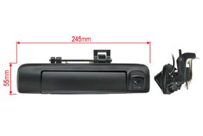 CCD parkovací kamera Isuzu D-Max (12->) - rozměry