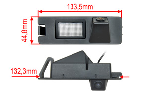 CCD parkovací kamera Nissan / Dacia - rozměry