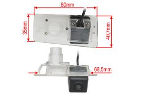 CCD parkovací kamera Hyundai / Kia - rozměry