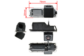 CCD parkovací kamera VW - rozměry