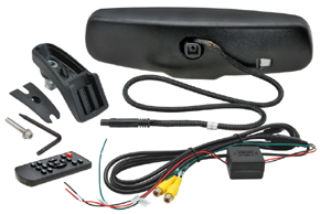 AK-043LA monitor v zrcátku Renault, Dacia - obsah balení