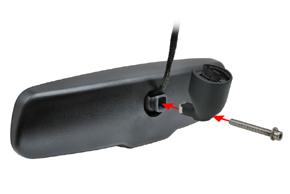AK-043LA monitor v zrcátku Audi, VW, Škoda - sestavení držáku zrcátka
