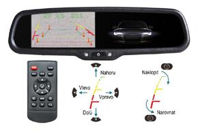 AK-043LA monitor v zrcátku Renault, Dacia - nastavení vodících linek