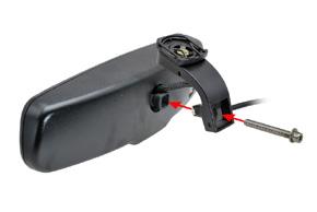 AK-043LA monitor v zrcátku Hyundai, Kia - ipevnění držáku z zrcátku