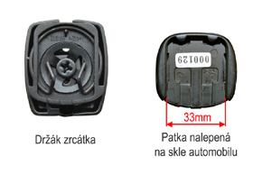 AK-043LAD monitor v zrcátku ztmavovací - Hyundai / Kia - patka na skle automobilu