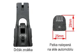 AK-043LA monitor v zrcátku - patka na skle automobilu
