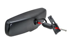 AK-043LA monitor v zrcátku - sestavení zrcátka a držáku