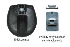 AK-043LA monitor v zrcátku Nissan, Renault, - detail patky na skle