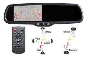 AK-043LA monitor v zrcátku Nissan, Renault - nastavení vodících trajektorií